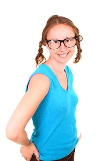 Free Young Athletic Girl With A Funny Eyeglasses Stock Photo - 19982340