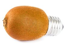 Free Kiwi Lightbulb Royalty Free Stock Image - 19982486