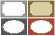 Free 4  Labels Colors Royalty Free Stock Images - 19982789