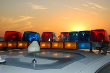Free Sunset Light Bar Royalty Free Stock Photo - 19984385