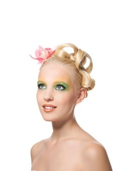Beautyful Woman With Flower Stock Image
