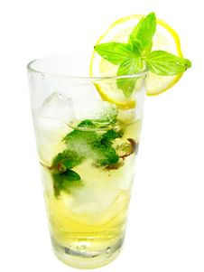 Free Yellow Lemonade With Ice Royalty Free Stock Images - 19985529