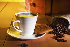 Free A Cup Of Coffee Royalty Free Stock Photos - 19985698