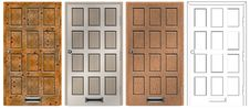 Free Doors Collection Royalty Free Stock Photo - 19986235