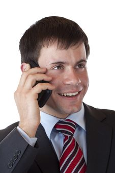 Free Close-up Of A Young Businessman Making A Call Stock Photography - 19986772