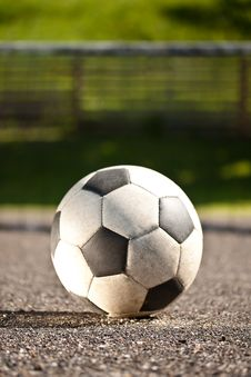 Free Soccer Ball On Asphalt Stock Photography - 19986802
