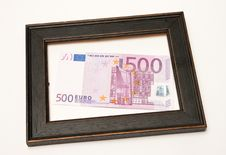 Free Euro In Wood Frame Stock Images - 19987104