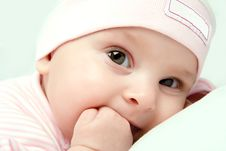 Free Baby Girl Looks Stock Photography - 19987132
