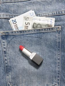 Jeans Pocket Money Stock Images