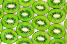 Free Kiwi, Cut Into Slices Royalty Free Stock Images - 19987389