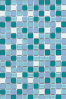 Free Sky Blue Mosaic Stock Images - 19987594