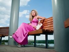 Free Woman In A Pink Dress Stock Photos - 19987673
