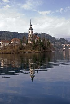 Church Of Bled Stock Photo