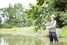 Free Fishing Woman Royalty Free Stock Photography - 19989927