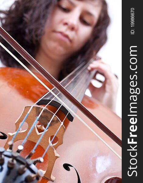 Girl playing cello