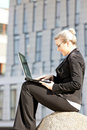 Free Businesswoman With A Notebook Royalty Free Stock Image - 19990076