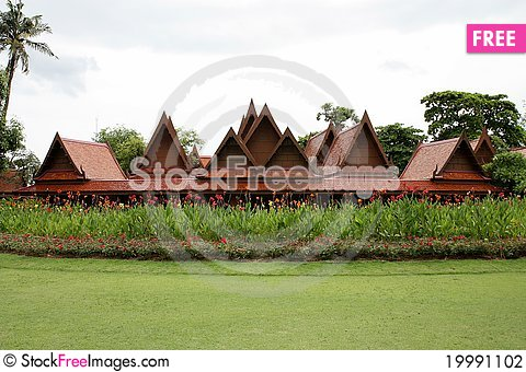 Free Traditional Thai House Stock Photography - 19991102