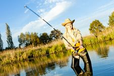 Free Fishing Woman Stock Photo - 19990000