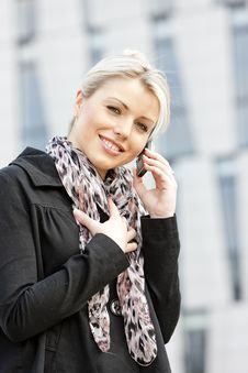 Free Telephoning Businesswoman Stock Image - 19990061