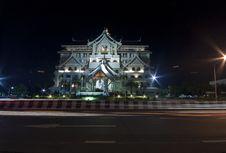 Free Night Thai Architecture Stock Image - 19990151