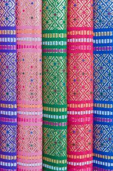 Thai Silk. Royalty Free Stock Photo