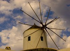Santorini, Greece, Old Wind Mill Stock Image