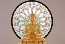 Gold Statue Image Of Buddha Royalty Free Stock Images