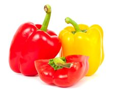 Free Red And Yellow Sweet Peppers Stock Photos - 19991343