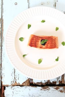 Free Grilled Salmon Fillet Stock Images - 19991404