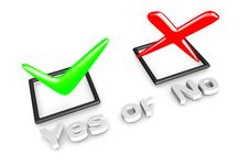 Free Yes/No Voting Concept Royalty Free Stock Photos - 19991498