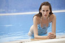 Woman In Swimming Pool Royalty Free Stock Image