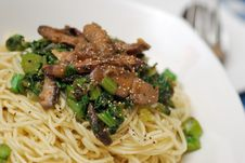 Singaporean Homemade Noodles Royalty Free Stock Image