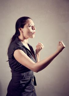 Free Indian Female On Martial Arts Practice Stock Image - 19993371