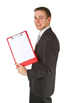 Free Businessman With Clipboard Stock Images - 19993594
