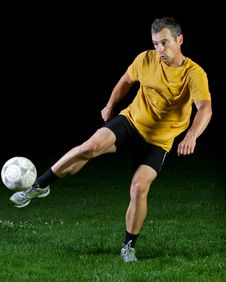Free Soccer Player Stock Image - 19993751