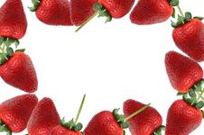 Free Strawberries Around Frame Stock Photo - 19993970