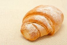 Free Croissant Dusted With Icing Sugar Stock Photos - 19994143