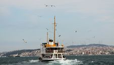 Free The Passenger Ship In Bosporus. Stock Images - 19994454
