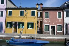 Free Houses In Burano Island Stock Photography - 19995132