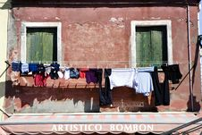 Free Houses In Burano Island Stock Image - 19995171