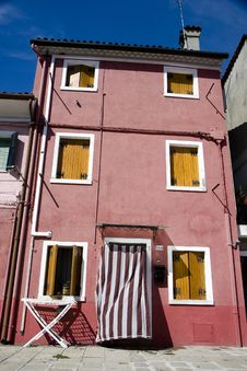 Free Houses In Burano Island Stock Photos - 19995203