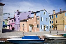 Free Houses In Burano Island Royalty Free Stock Images - 19995239