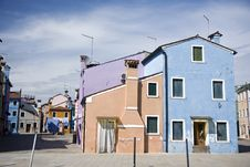 Free Houses In Burano Island Stock Image - 19995261