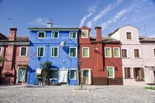 Free Houses In Burano Island Royalty Free Stock Photography - 19995487