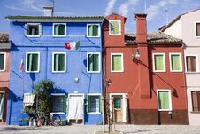 Free Houses In Burano Island Royalty Free Stock Photography - 19995567