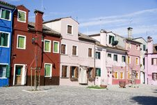 Free Houses In Burano Island Royalty Free Stock Image - 19995596