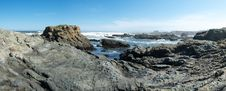Glass Beach Panorama Stock Images