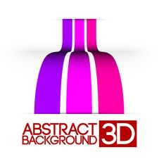 Free Abstract 3d Colorful Stripes Royalty Free Stock Photos - 19996038