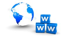 Free World Globe And World Wide Web Text Royalty Free Stock Photos - 19996198