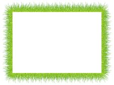 Frame With Green Grass Stock Photo
